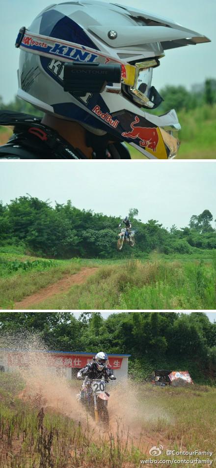 Moto Cross A级职业车手陈强携带Contour参战